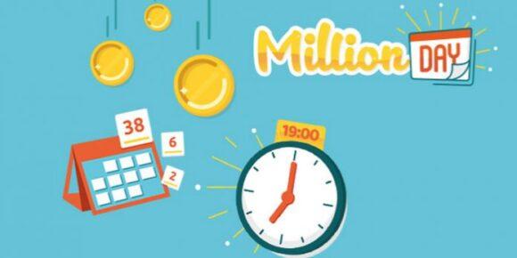 Estrazione Million Day combinazione 17 maggio, numeri vincenti. Il MillionDay è un gioco semplice, basta scegliere 5 numeri tra 1 e 55 compresi e l'importo della giocata è fisso: 1 Euro solamente. Si può giocare al Million Day tutti i giorni fino alle 18:45.