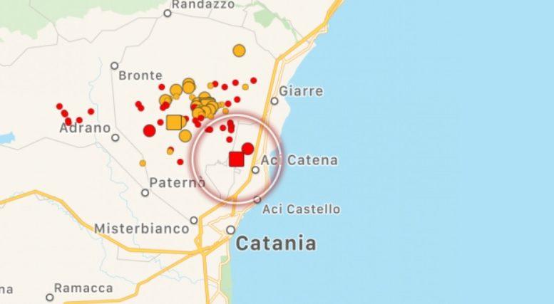 forte scossa di terremoto nel catanese questa notte