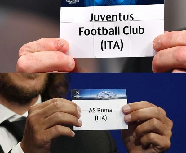 scopriamo le euro avversarie in champions di Juventus e Roma
