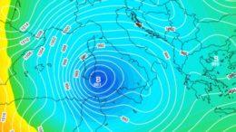 Il ciclone polare Klaus porterà neve fino a Sud