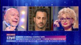 Fabrizio Corona super ospite nella prima puntata del programma televisivo condotto da Barbara D'Urso, Live Non è la D'Urso