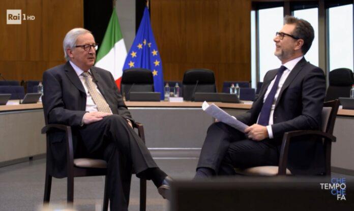 Che Tempo che fa 31 marzo: puntata avviata con l'intervista in esclusiva di Juncker da parte di Fabio Fazio. Tanti ospiti in studio