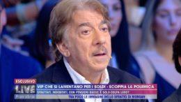 Marco Columbro sbotta furiosamente in diretta, ospite da Barbara D'Urso, ieri sera, domenica 6 ottobre 2019 su Canale Cinque