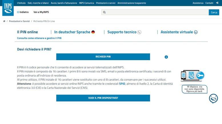 La procedura per ottenere il PIN INPS per la richiesta del bonus di euro 600