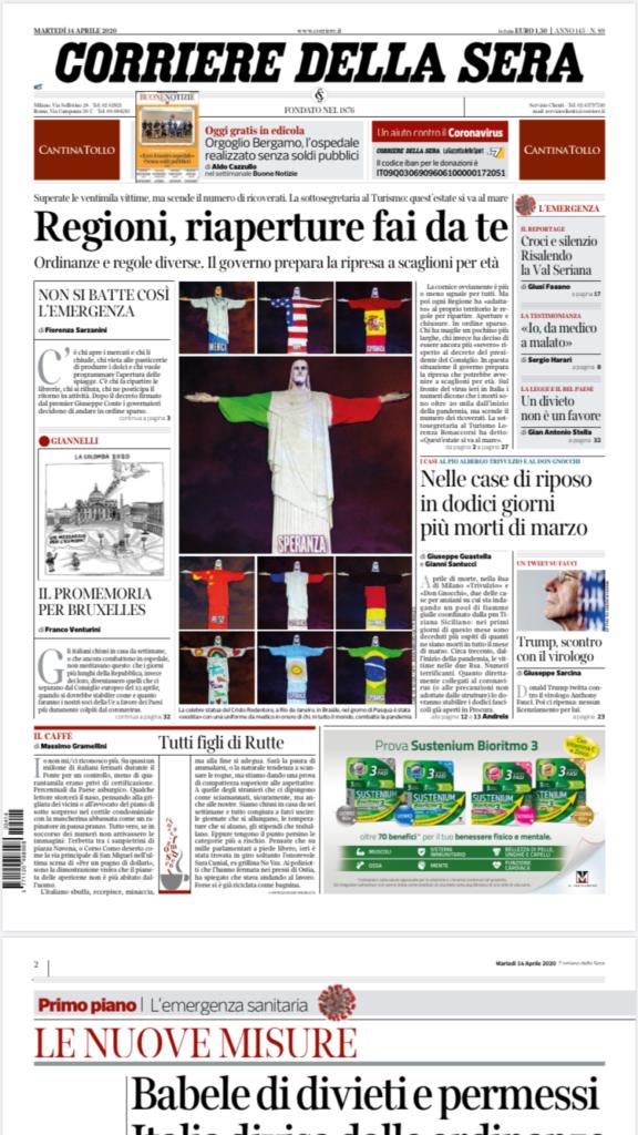 Corriere della sera 14 aprile