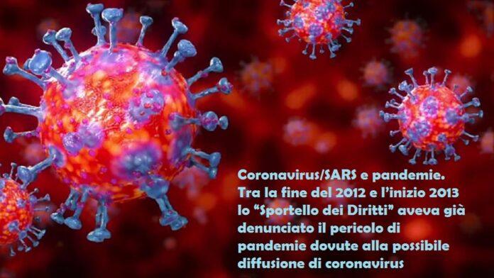 pericolo coronavirus già dal 2012