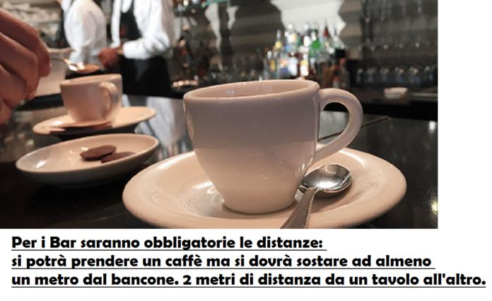 bar ristoranti riapertura fase 2 coronavirus italia 18 maggio