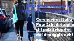 le misure della fase 2 emergenza coronavirus italia dal 4 maggio