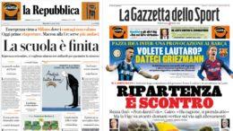 Prima pagine Quotidiani del 14 aprile