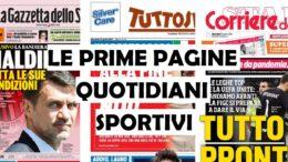 le prime pagine dei quotidiani sportivi