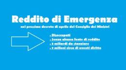 reddito di emergenza per circa 3 milioni di italiani nel prossimo decreto del consiglio dei ministri