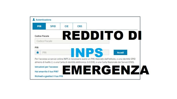 reddito di emergenza online sul sito INPS