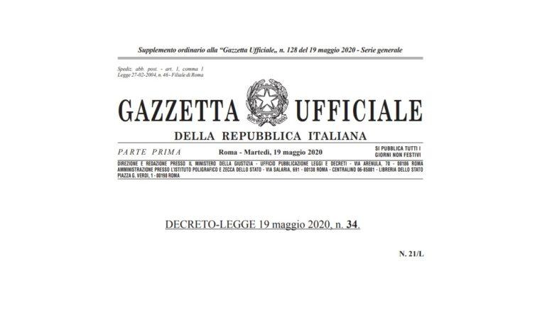 decreto-rilancio-gazzetta-ufficiale