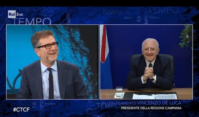 Replica Che Tempo che Fa domenica 15 novembre, VIDEO De Luca-Fazio