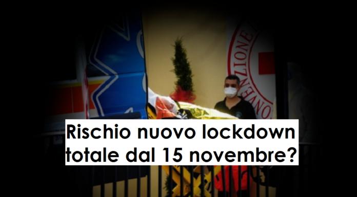 nuovo lockdown 15 novembre