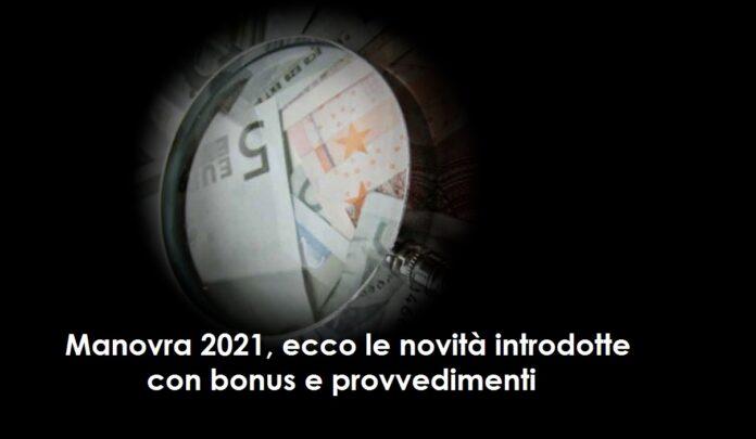 Manovra 2021, ecco 5 novità introdotte con bonus e provvedimenti