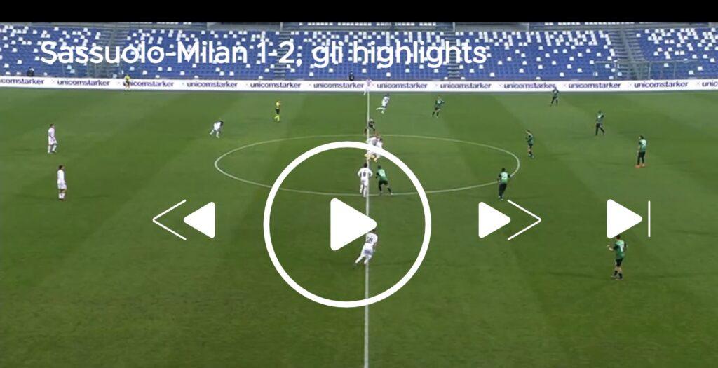 Video dell'azione del goal del vantaggio del Milan sul campo del Sassuolo, Leao ha segnato dopo appena 6,76 secondi. La sua posizione al fischio d'inizio sembra irregolare
