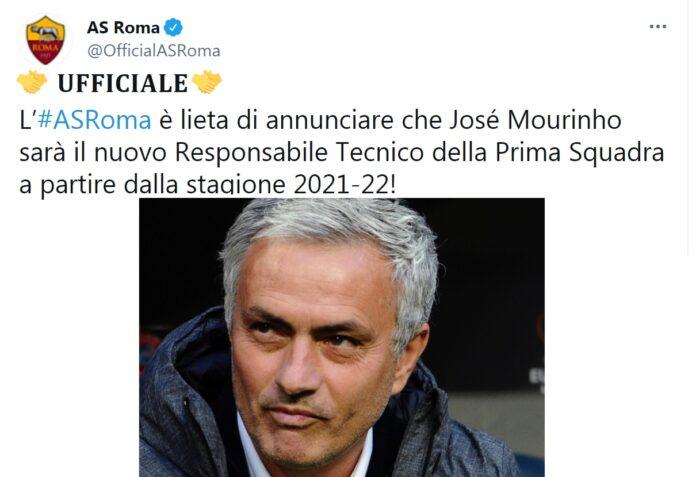 As Roma, allenatore Josè Mourinho