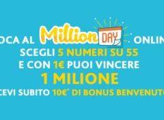 Estrazione Numeri Vincenti Million Day 13 aprile 2018